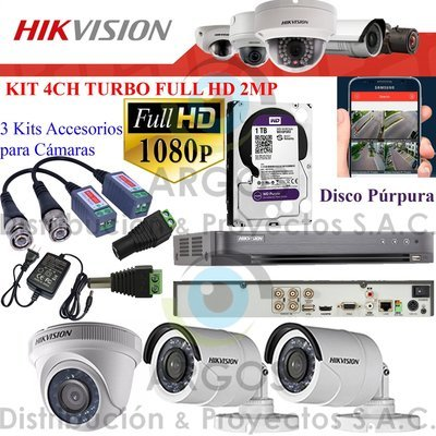 KIT DE 3 CÁMARAS COMPLETO CON HDD 1TB - FULL HD 1080P