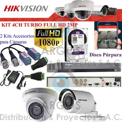 KIT DE 2 CÁMARAS COMPLETO CON HDD 1TB - FULL HD 1080P