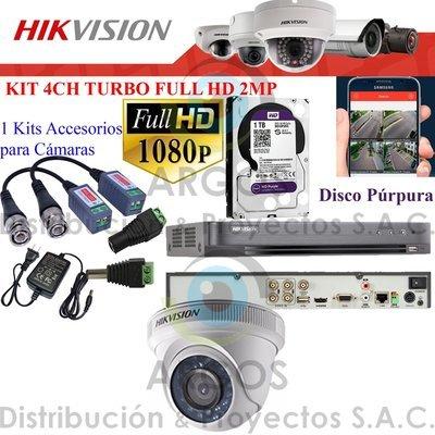 KIT DE 1 CÁMARAS COMPLETO CON HDD 1TB - FULL HD 1080P