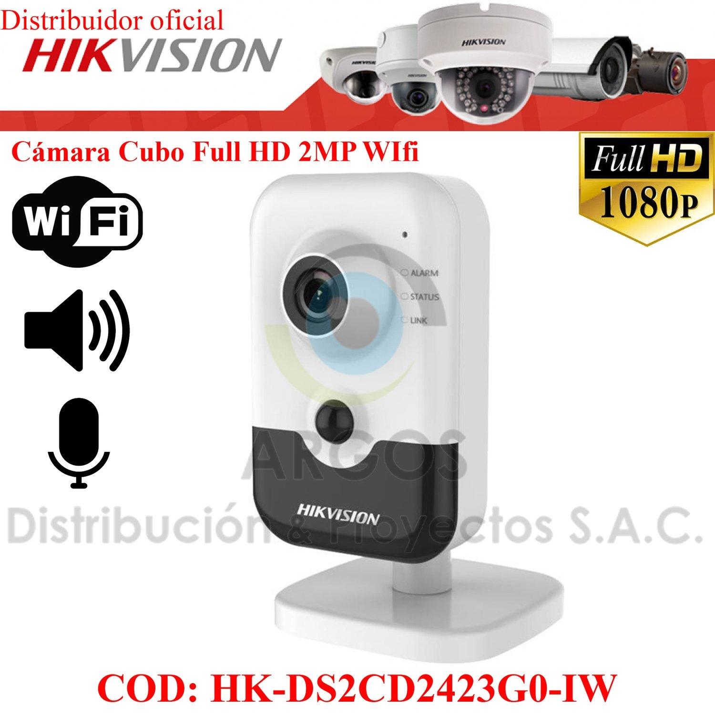 CÁMARA CUBO FULL HD 1080P 2MP   WIFI   SLOT microSD   AUDIO 2-way