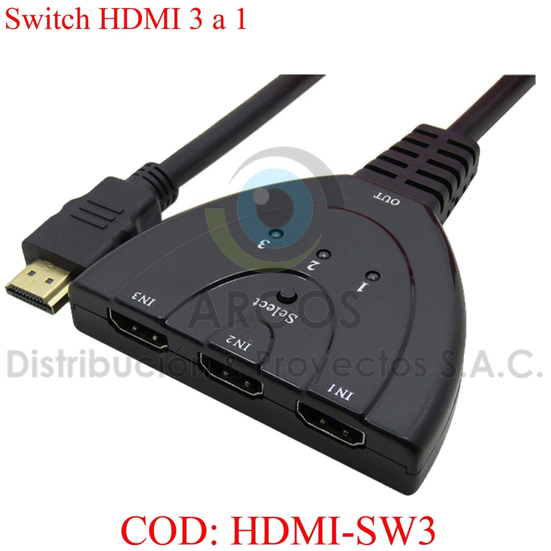 SWITCH HDMI DE 3 A 1