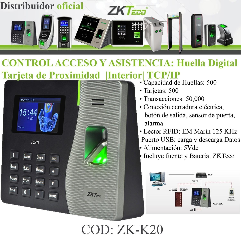 CONTROL DE ACCESO Y ASISTENCIA K20