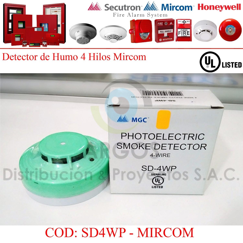 DETECTOR DE HUMO 2/4 HILOS MIRCOM