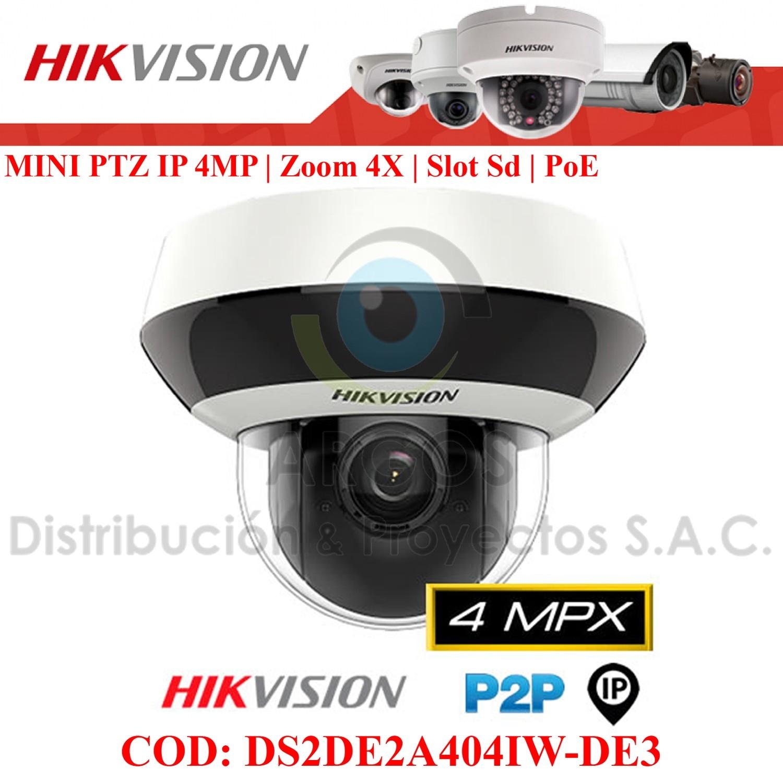 MINI PTZ IP 4MP | ZOOM x4 | WDR | IP66 | IK10 | Slot SD | IR 20m | PoE.