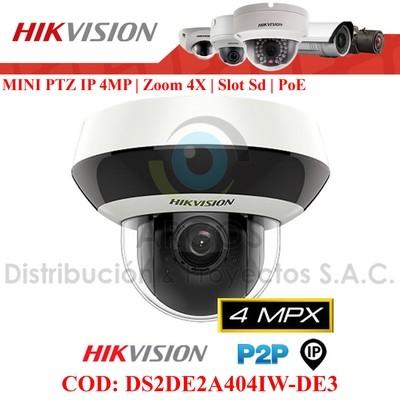 MINI PTZ IP 4MP   ZOOM x4   WDR   IP66   IK10   Slot SD   IR 20m   PoE.