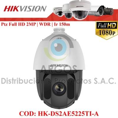 "Domo IR PTZ HD1080P D-WDR   Zoom 25x, Digital 16x   CMOS 1/3"" ICR   WDR 120dB   IR 150m   Alarma   IP66."