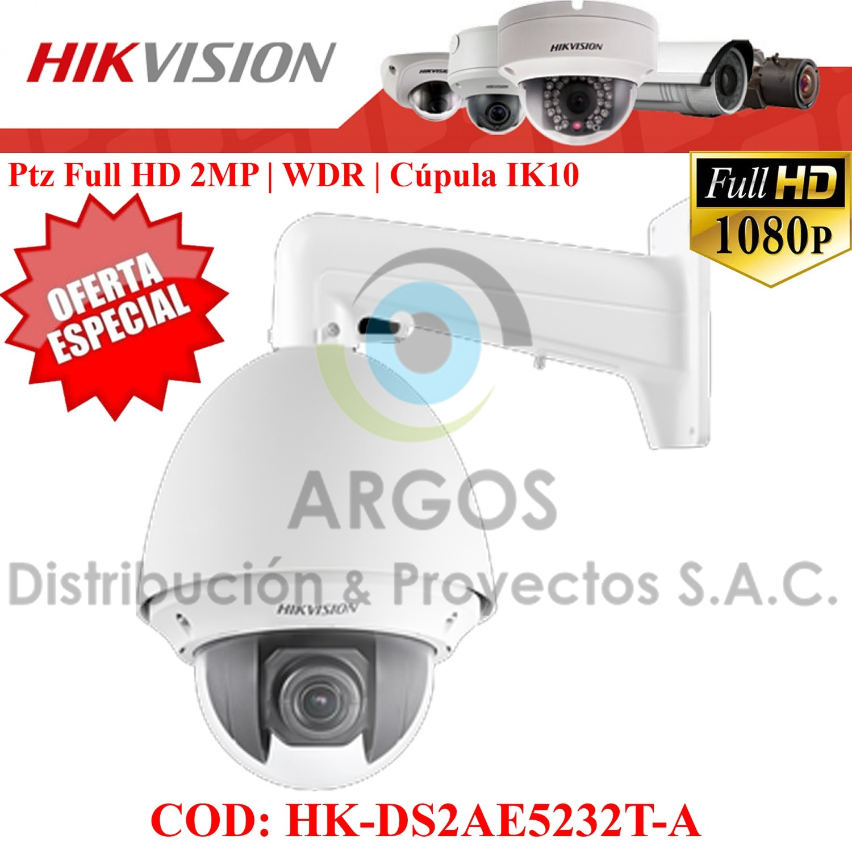 Domo IR PTZ HD1080P   Zoom 32x, Digital 16x   WDR 120dB   ALARMA   Exterior IP66.