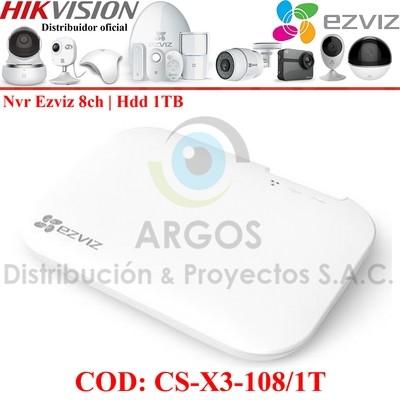 NVR WIFI 08CH EZVIZ CON HDD 1TB INTEGRADO