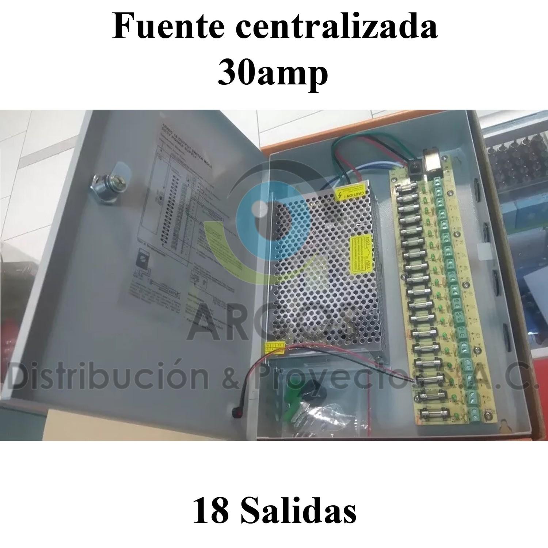 FUENTE CENTRALIZADA CCTV 18 TOMAS 30AMP