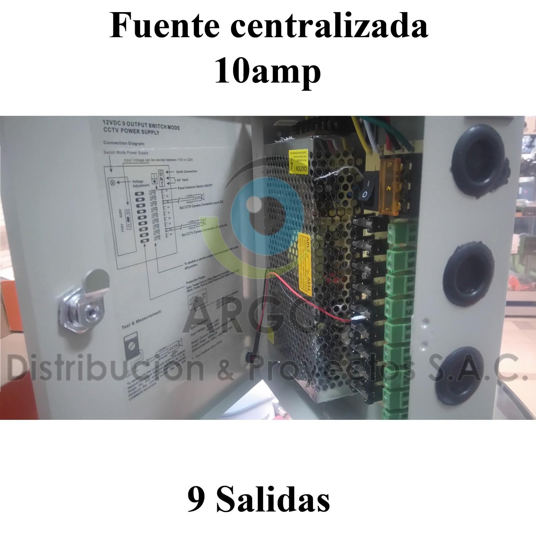 FUENTE CENTRALIZADA CCTV 9 TOMAS 10AMP