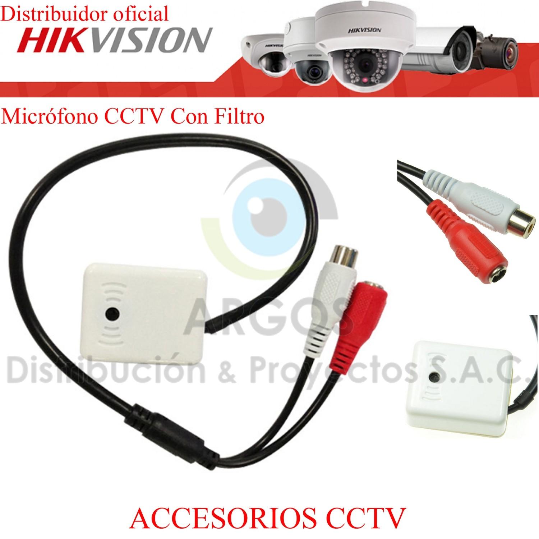 MICROFONO CCTV CON FILTRO