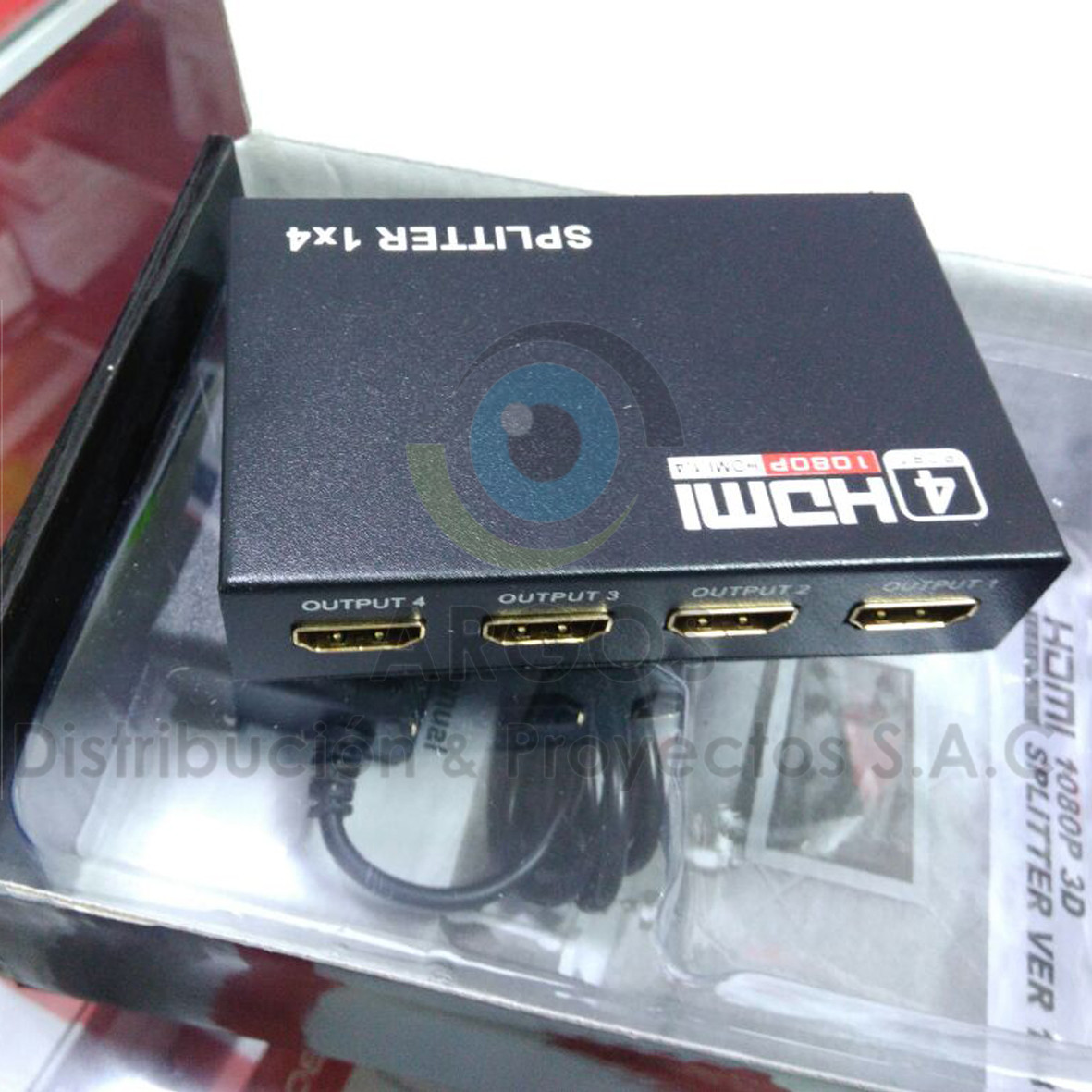 SPLITTER HDMI 1 A 4