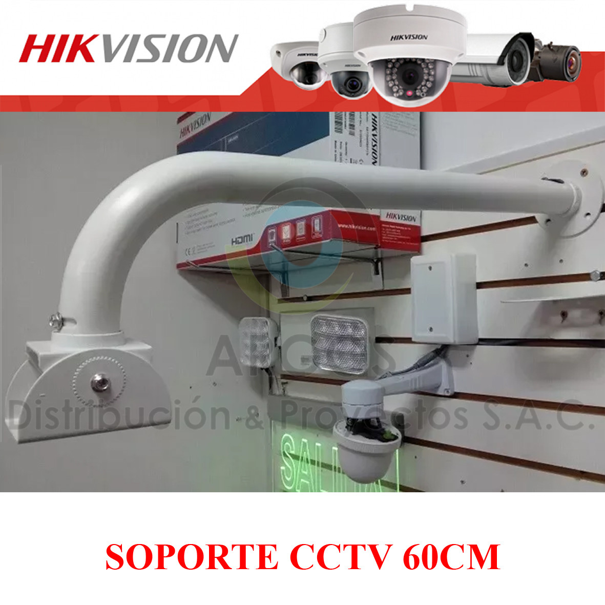 SOPORTE PARA CÁMARA CCTV DE 60CM