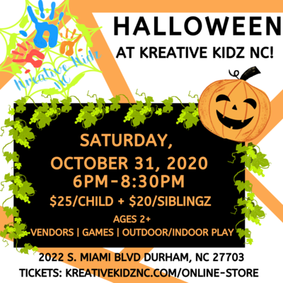 Halloween At Kreative Kidz NC!— SIBLING RATE