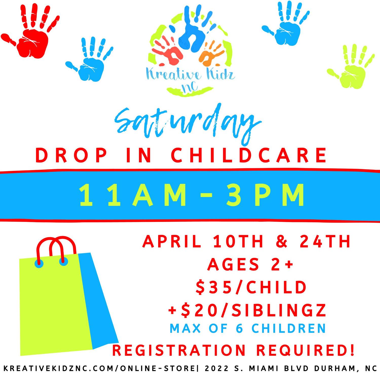 Saturday Drop In Childcare- SIBLING RATE