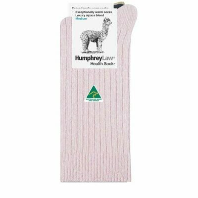Alpaca Health Sock Style 01C - Powder Pink