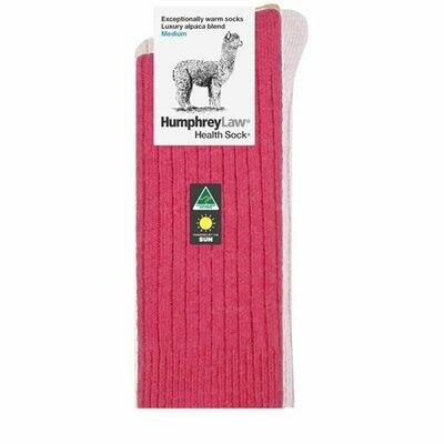 Alpaca Health Sock Style 01C - Fuschia