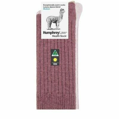 Alpaca Health Sock Style 01C - Old Rose