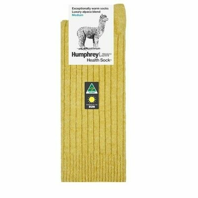 Alpaca Health Sock Style 01C - Empire Yellow