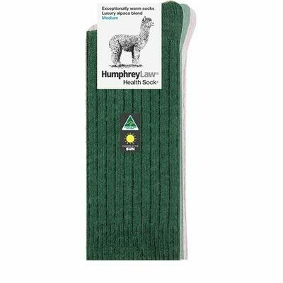 Alpaca Health Sock Style 01C - Hunter Green