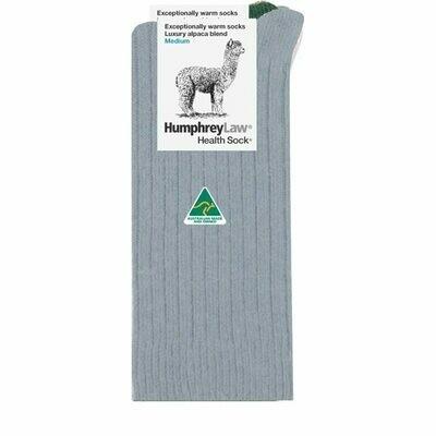 Alpaca Health Sock Style 01C - Silver Grey