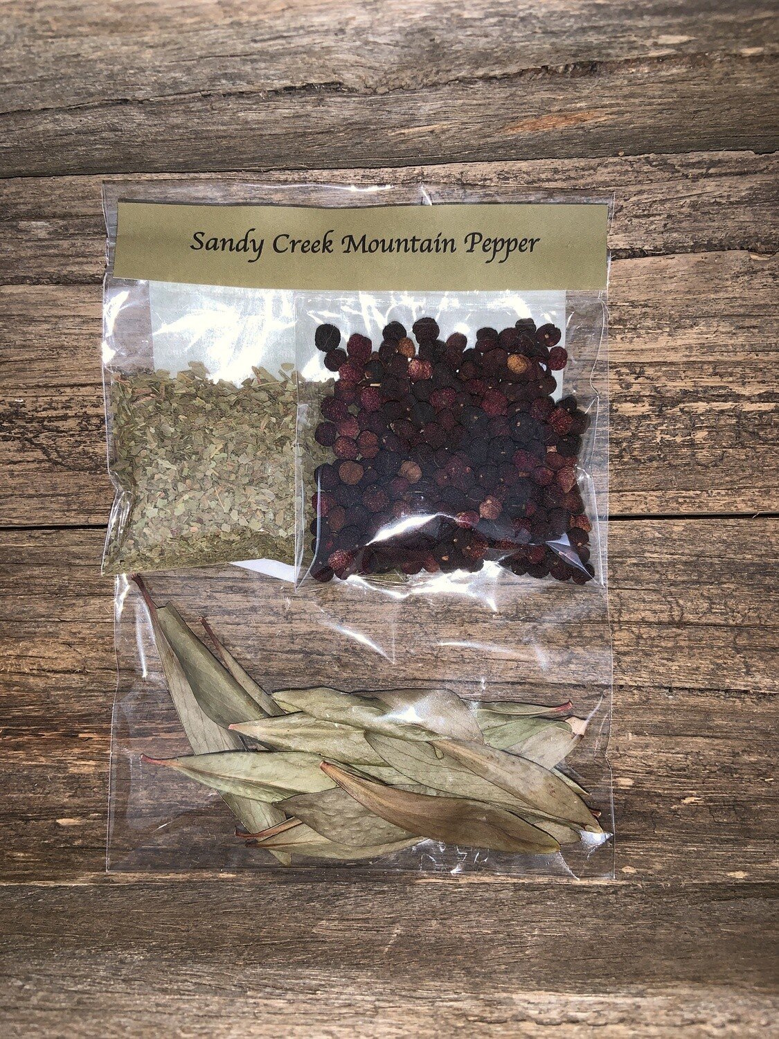 Sandy Creek Mountain Pepper Berry and Leaf