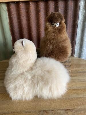 Sitting Alpaca Fleece Toy