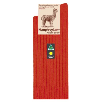 Alpaca Health Sock Style 01C - Terracotta