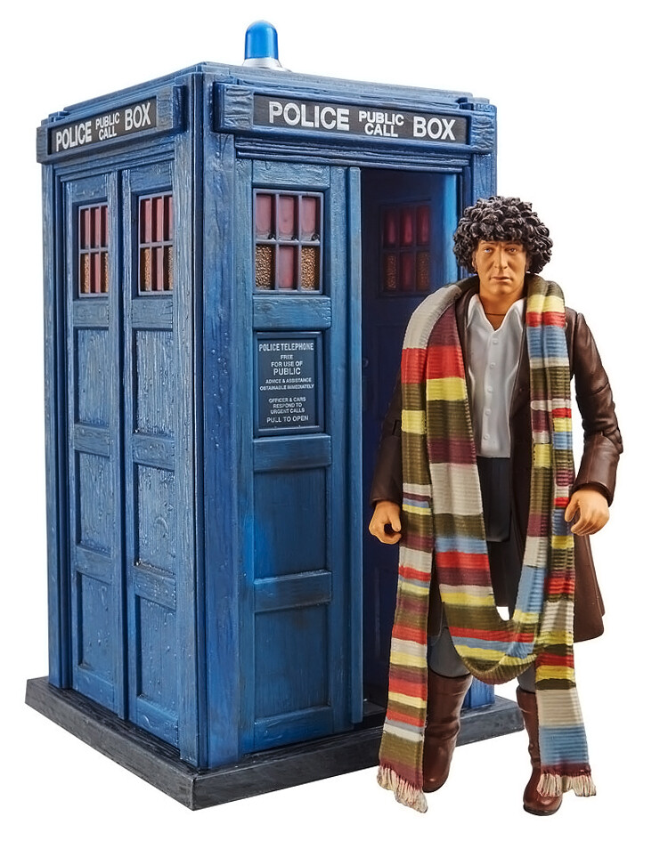 """Doctor Who: 4th Doctor 5.5"""" Figure & TARDIS Collector set from 'Shada'"""