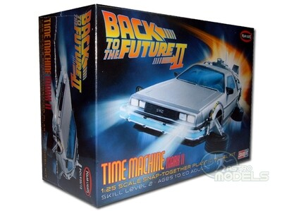 DeLorean Time Machine Model Kit - Back to the Future Part II - 1:25 Scale - Superb Detail!