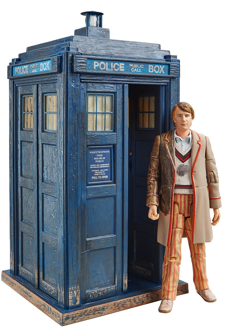 "Doctor Who: 5th Doctor 5.5"" Figure & TARDIS Collector set from 'The Caves of Androzani'"