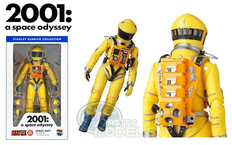 Medicom '2001: A Space Odyssey' Space Suit Action Figure - Yellow Version - Approximately 7 Inches Tall