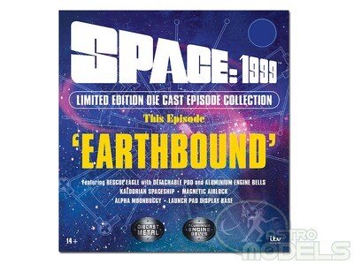NEW! Sixteen12 'Deluxe' Diecast Collection Set From 'SPACE: 1999' - Includes Rescue Eagle and Kaldorian Spaceship!! This Episode: 'EARTHBOUND' LIMITED EDITION!