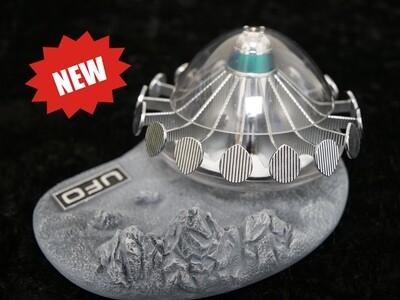 NEW! Sixteen12 UFO Saucer With Lunar Display Base