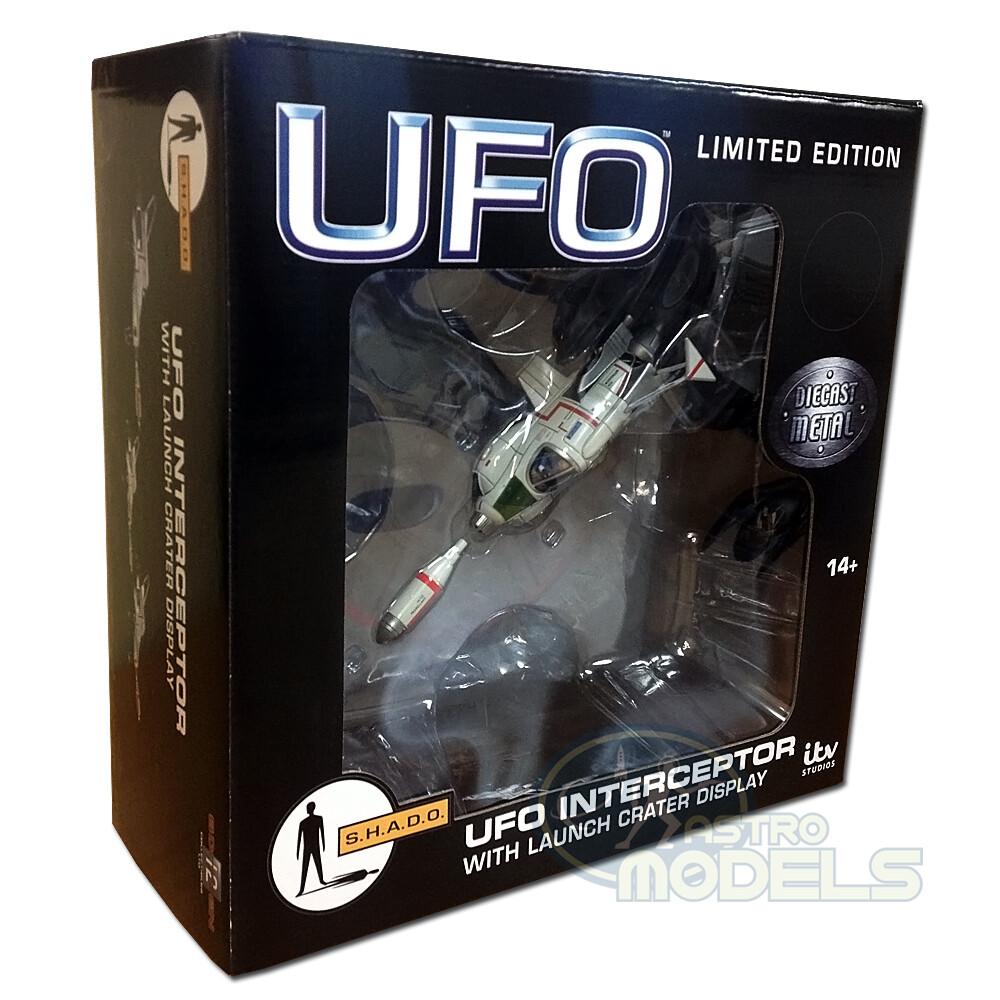 NEW! Sixteen12 Diecast UFO SHADO Interceptor With Launch Crater Display