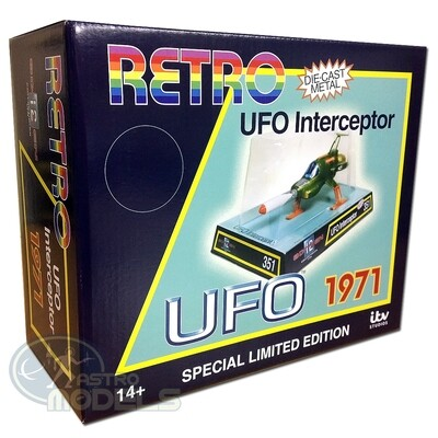 NEW! Sixteen12 Retro Diecast UFO SHADO Interceptor