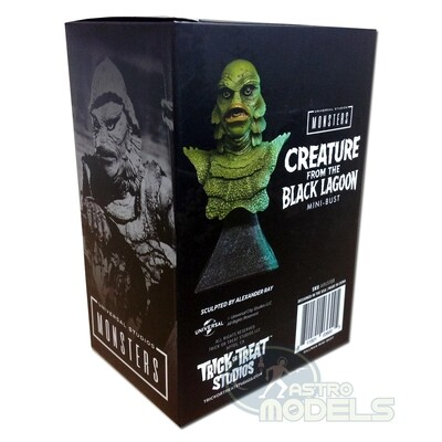 """Universal Monsters Mini Bust 'Creature from the Black Lagoon' - 15cm Tall - (Approx. 6"""" Including Stand)"""