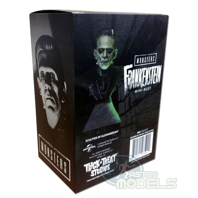 """Universal Monsters Mini Bust 'Frankenstein' - 15cm Tall - (Approx. 6"""" Including Stand)"""