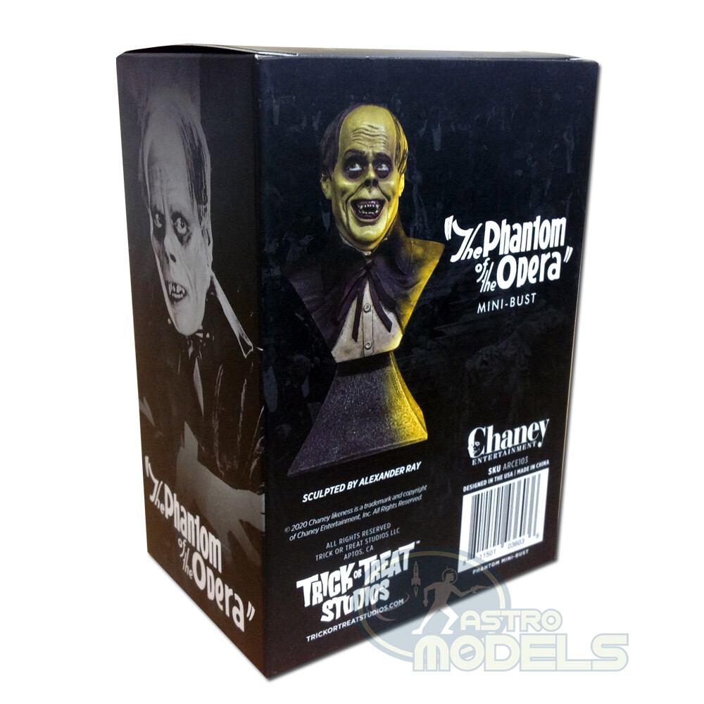"""Chaney Mini Bust 'The Phantom of the Opera' - 15cm Tall - (Approx. 6"""" Including Stand)"""