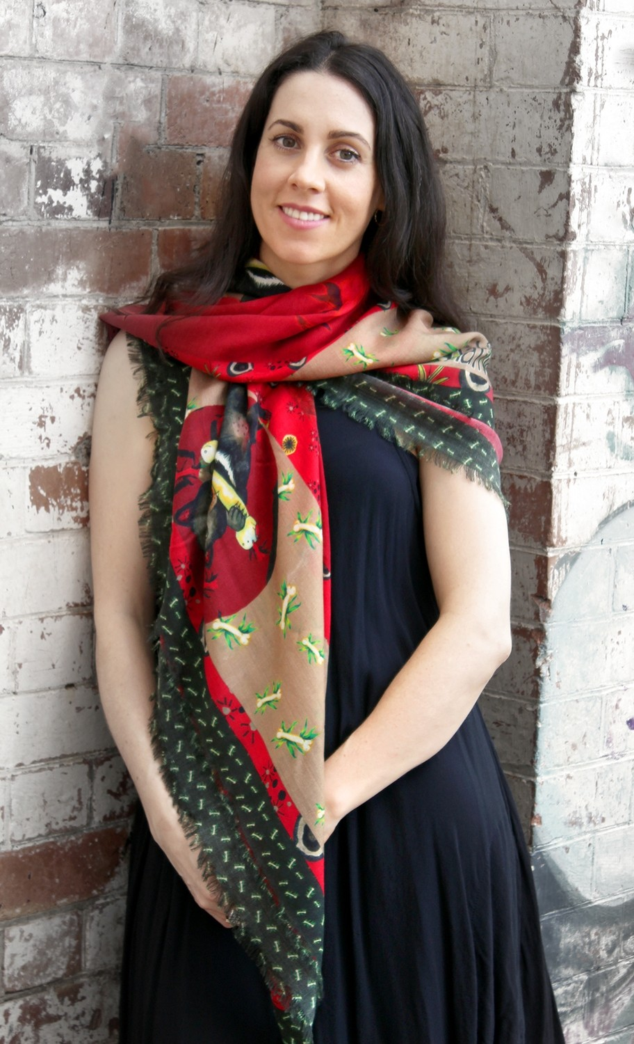 Little Natives​® Hungry Little Devil scarf/shawl
