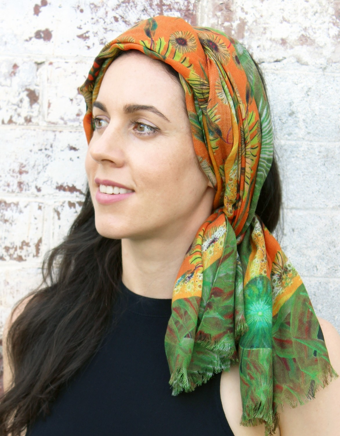 Little Natives​® Gum Blossom & Numbat scarf