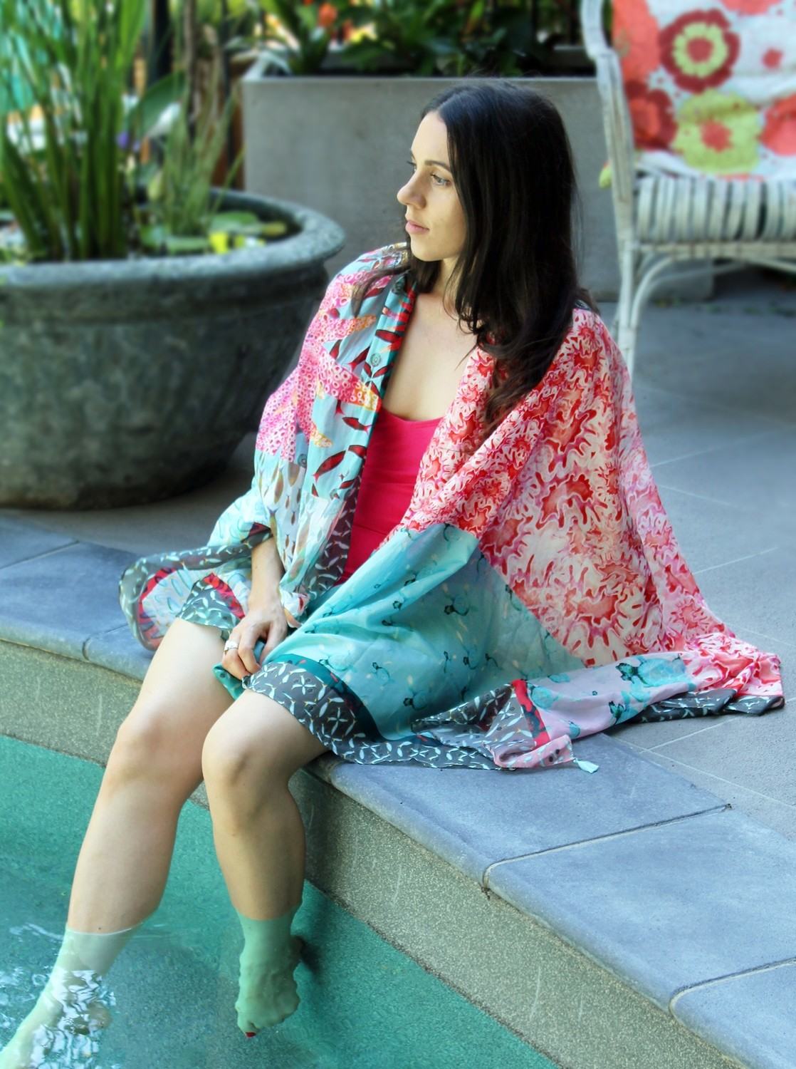 Little Natives® Great Barrier Reef sarong/dress