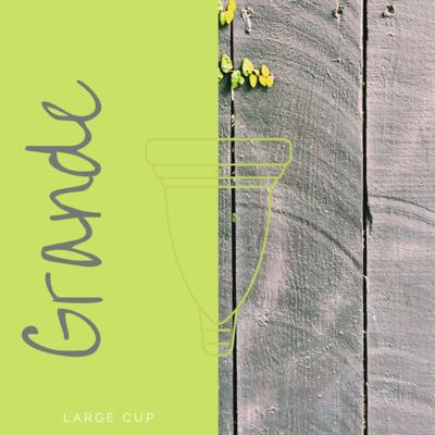 Large I Grande size menstrual cup