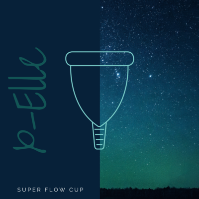 X-Elle I Super menstrual cup WITH STERI-SPRAY