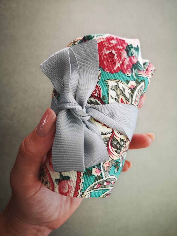 Mini Roll-Up Bundle Turquoise Paisley - Medium Cup