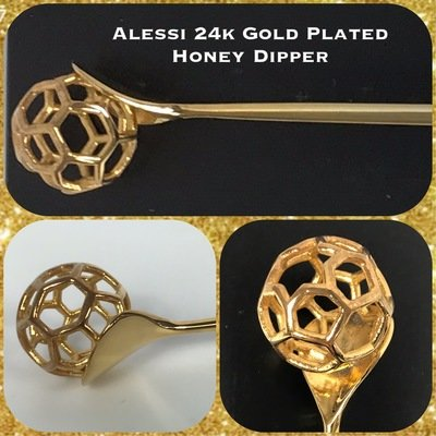 Alessi 24K Gold Plated Honey Dipper