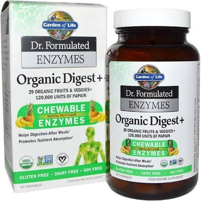 Dr. Formulated Organic Digest 90 chews