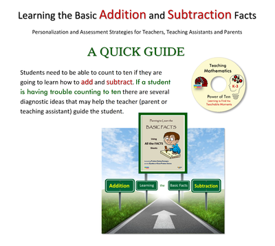 Quick Guide - Learning the Basic Addition and Subtraction Facts