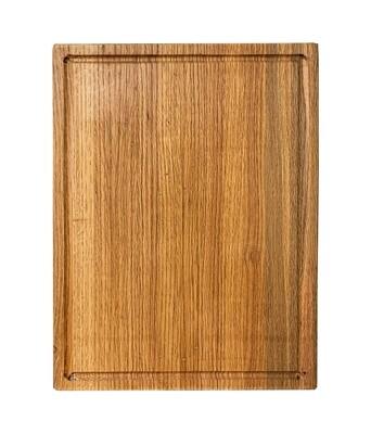 Premium de encino grande -Tabla de picar/servir  40 x 28 cms Grosor: 3 cms