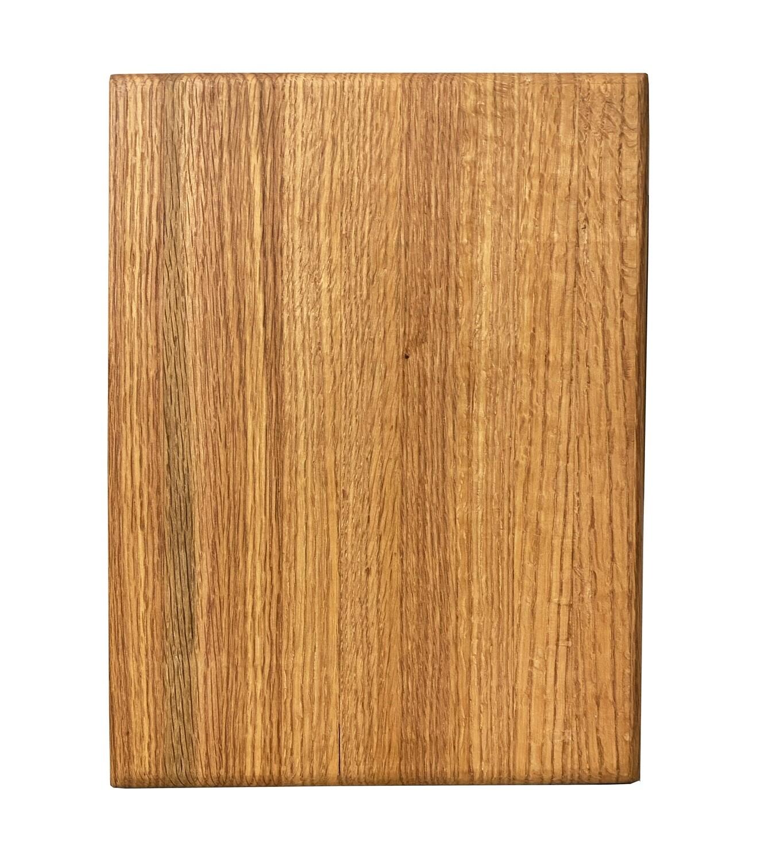 Premium de encino chica -Tabla de picar/servir   30x20.5 cms   Grosor: 3 cms